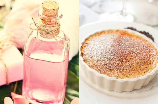Crème brûlée s ružinom vodicom