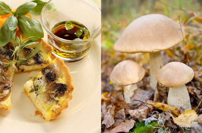Quiche sa šumskim gljivama