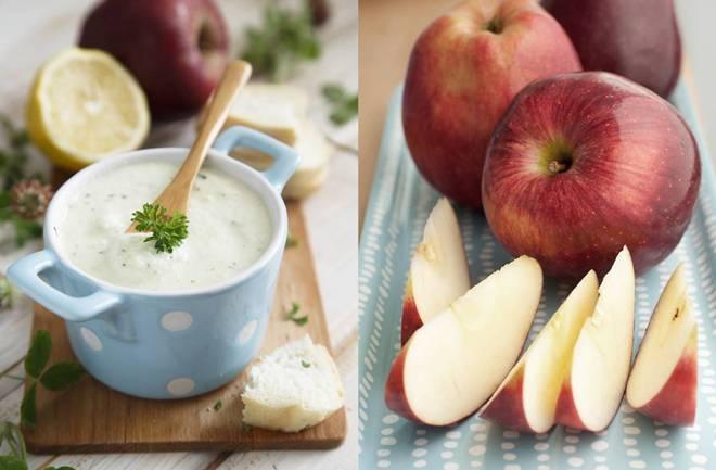 Kruške i jabuke uz kremasti umak