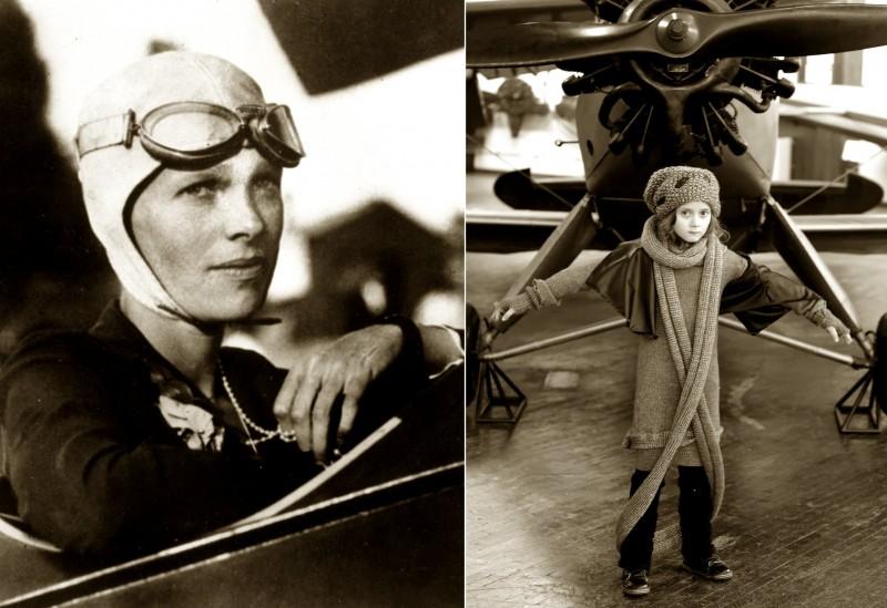 Amelia Earhart kao modna inspiracija