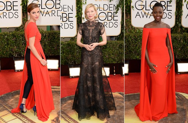 Zlatni globus: Hrabre crvene i crne haljine dominirale crvenim tepihom
