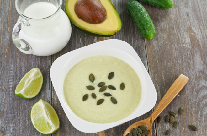 avokado i krastavci juha