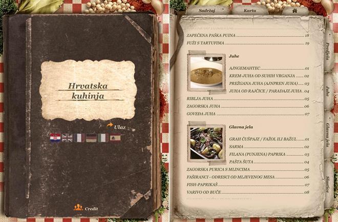 'Hrvatska kuhinja' – jednim dodirom do tradicionalnih recepata