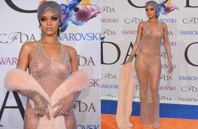 Rihanna gola zasjala kao dijamant