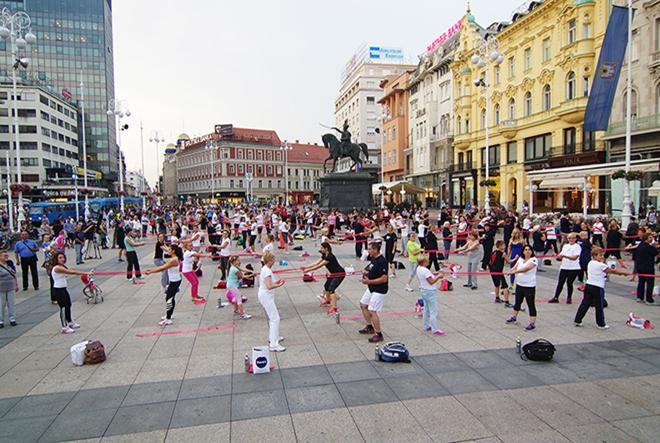 """""""Pokreni se"""" – glavni zagrebački trg vježbao kao jedan"""