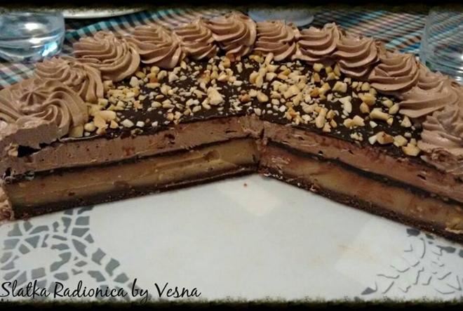 Kiki-čoko-riki recept: torta s čokoladom i kikirikijem