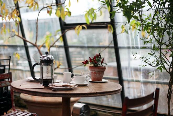 kava, stol