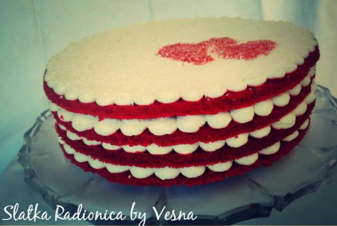 A sad… Red Velvet Cake za Valentinovo