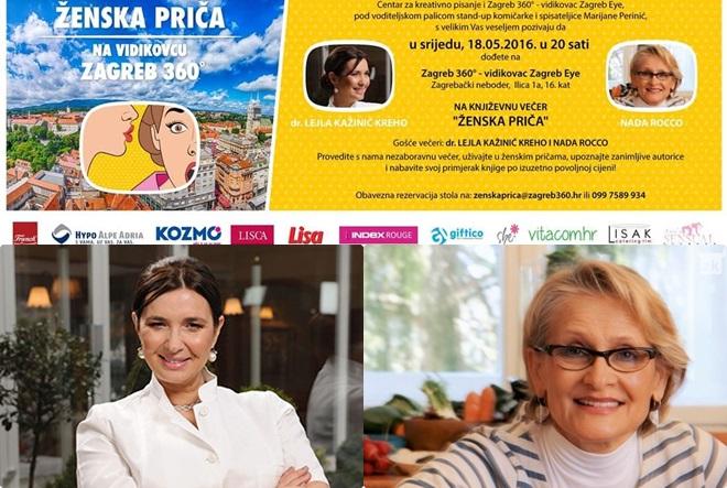 "Književna večer ""Ženska priča"": dr. Lejla Kažinić Kreho & Nada Rocco"