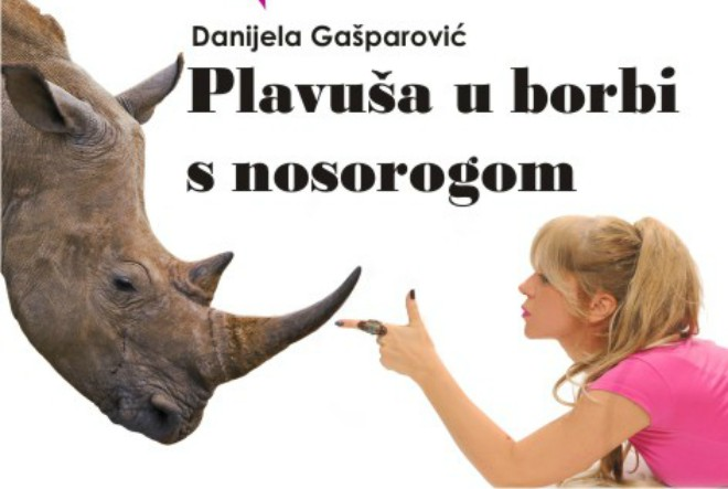 Knjiga na dar – Plavuša u borbi s nosorogom