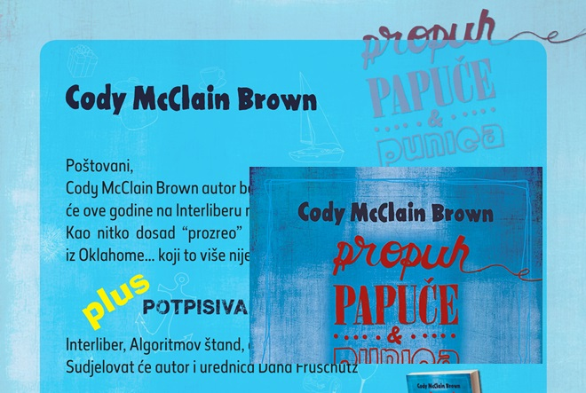 Cody McClain Brown na Interliberu najavljuje novi roman