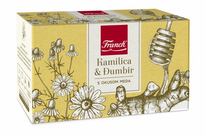 Kombinacija kamilice i đumbira s okusom meda grije nas ove zime