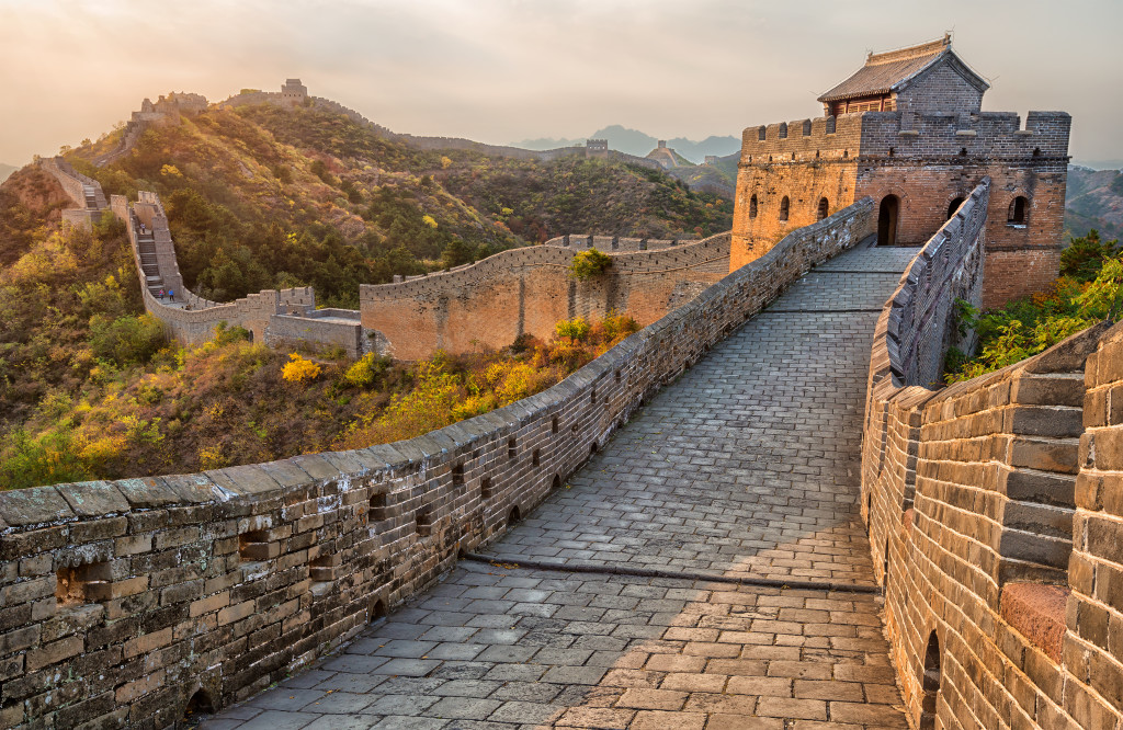 Beautiful section of the Chinese Great Wall