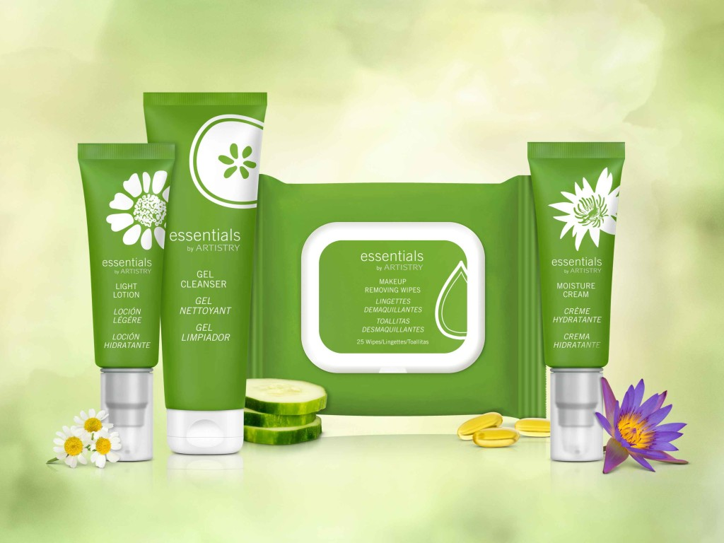 Group Product Shot with Light Lotion,Makeup Remover Wipes,and Gel Cleanser