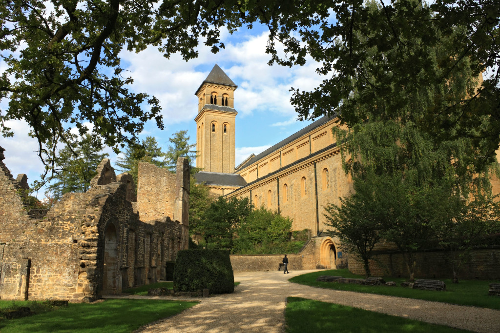 BR84PG Abbaye d'Orval (Orval Abbey) is a Cistercian monastery founded in 1132 in Gaume region of Belgium.
