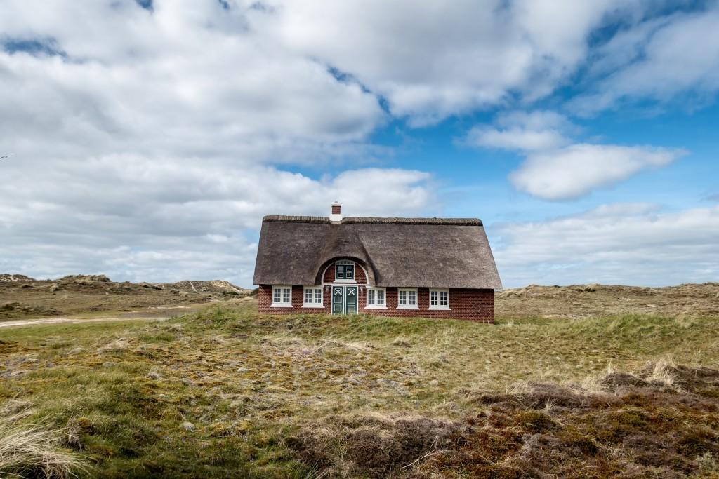 Traditional house in Sonderho on Fano in Denmark