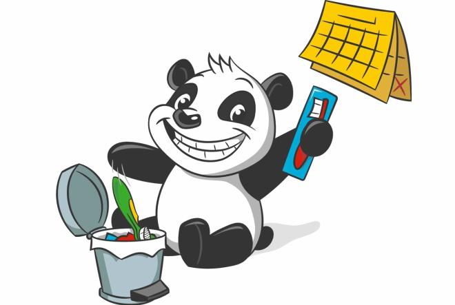Vesela panda imena Patches priredila je odličnu pastu i četkice za zube za djecu