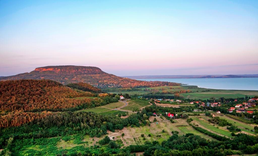 14949524 - view to lake balaton from szigliget,hungary