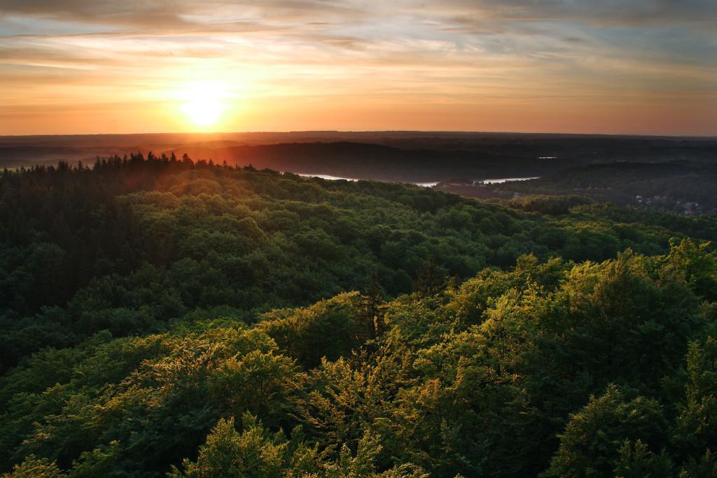 Sunset in  Kashubia, Poland