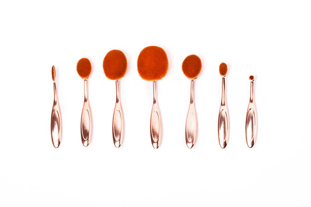 Rose Gold set ovalnih kistova (2)