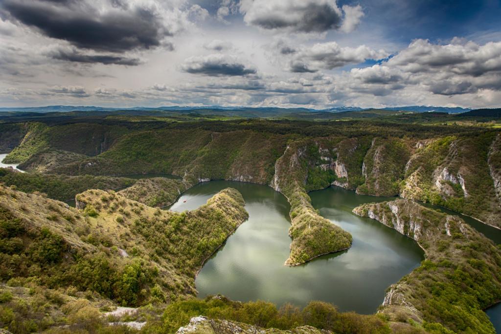 J45H9R Canyon of Uvac river, Serbia, Europe