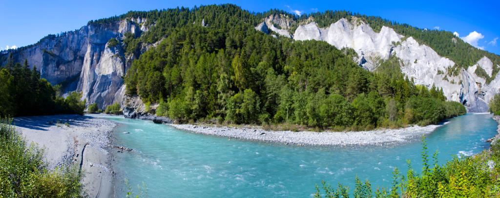DA6BR1 Ruinaulta, Switzerland, Europe, canton, Graubunden, Grisons, Surselva, gulch, Rhine gulch, river, flow, Vorderrhein, Rhine, rock