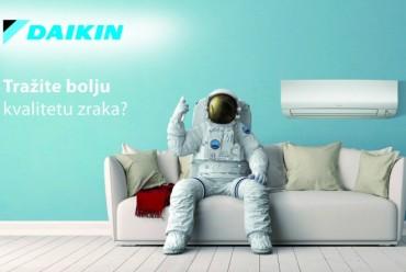 Čistoća zraka najviše kvalitete uz klimatizaciju prostora