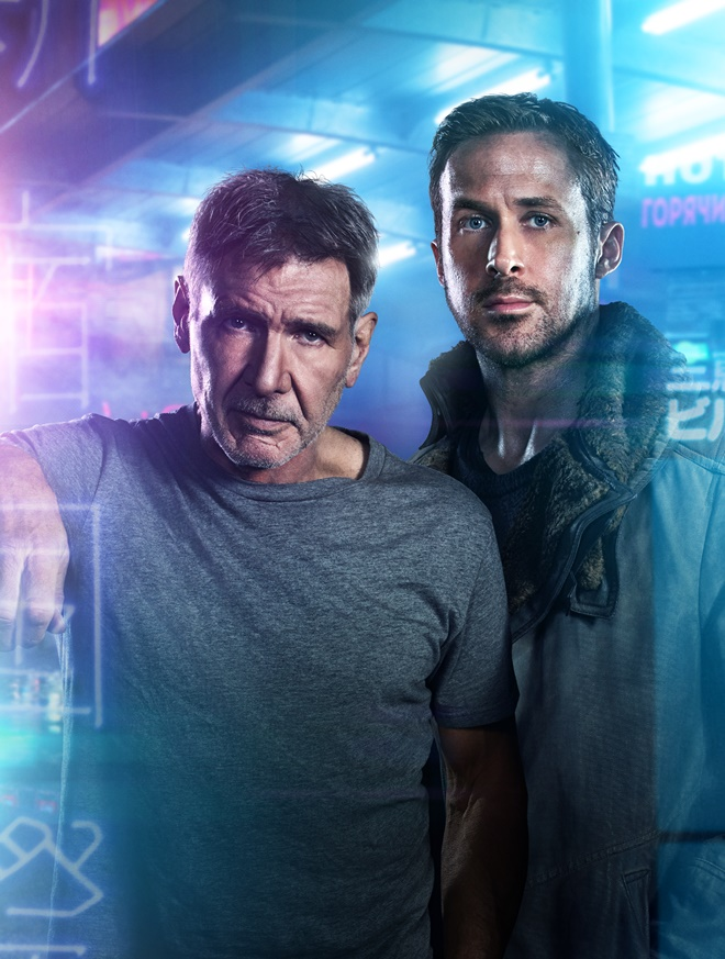 "(L-R) RYAN GOSLING as K and HARRISON FORD as Rick Deckard in Alcon Entertainment's sci fi thriller ""BLADE RUNNER 2049 in association with Columbia Pictures, domestic distribution by Warner Bros. Pictures and international distribution by Sony Pictures Releasing International."