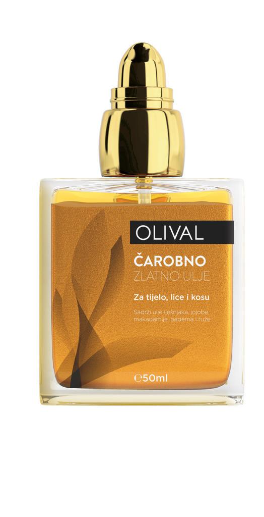 Olival carobno ulje sa zlatnim cesticama