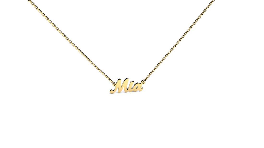 Zaks, zlatna ogrlica sa imenom, cijena ovisi o gramaži