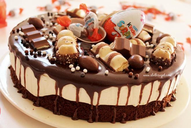 Brownie torta s bijelom čokoladom