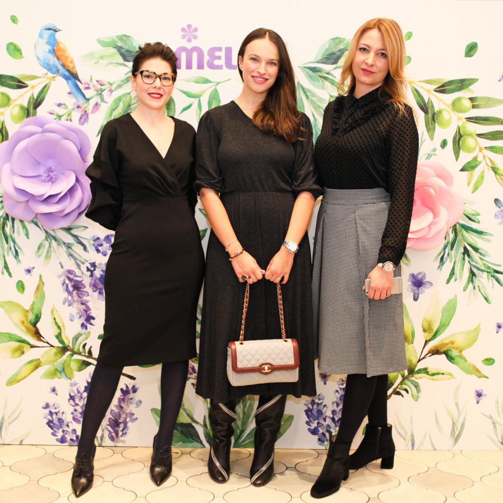 Lucija Gluščević, brand managerica Melema, Ljupka Gojić Mikić, Tina Roso, direktorica Neve.