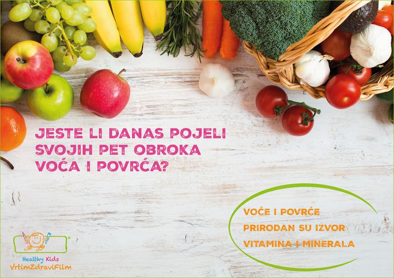 Svaki dan tanjur obojim s 5 serviranja voća i povrća_photo