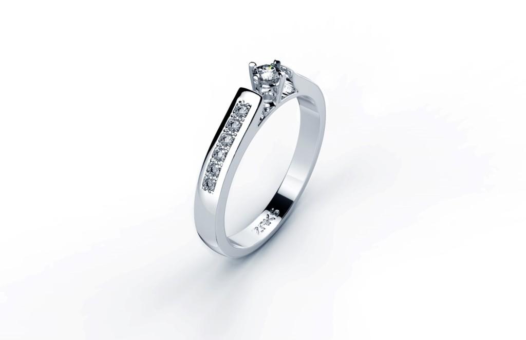 Zlatni prsten s briljantima, prije 4.998,00kn, sada 3570 kn, Zaks