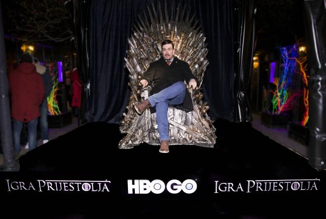 Tron iz kultne serije Game of Thrones stigao na zagrebačko Fuliranje