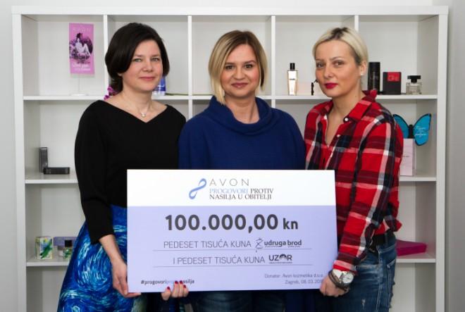 Avon označava Dan žena donacijom 100.000kn Udrugama Brod i U.Z.O.R. koje pomažu ženama žrtvama nasilja