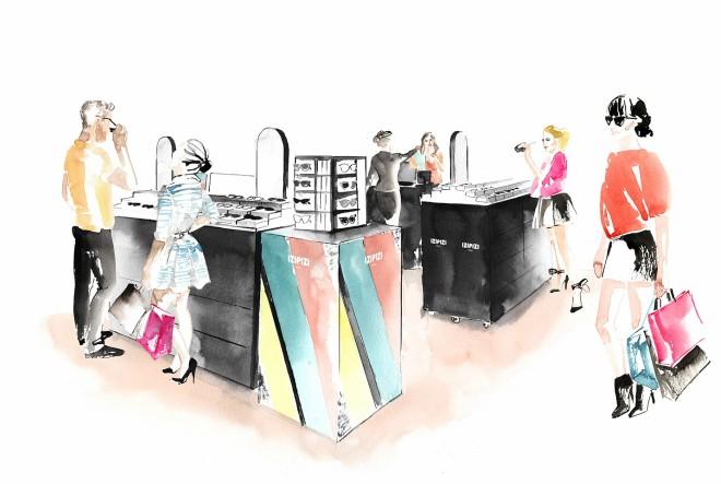 Maya Beus ilustrirala vizuale za novi Izipizi pop-up corner