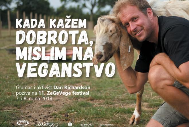 Britanski glumac na ZeGeVege festivalu:  Kada kažem dobrota, mislim na veganstvo