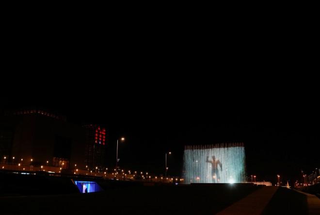 Svjetlosnom projekcijom DC superheroja Aquamana na zagrebačkim fontanama spektakularno je najavljena premijera filma