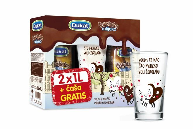 Obilježite mjesec ljubavi i Valentinovo uz posebno pakiranje Dukat čokoladnog mlijeka s čašom na dar