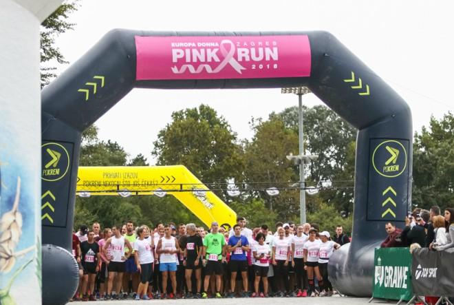 Drugo izdanje humanitarne Europa Donna Zagreb Pink Run