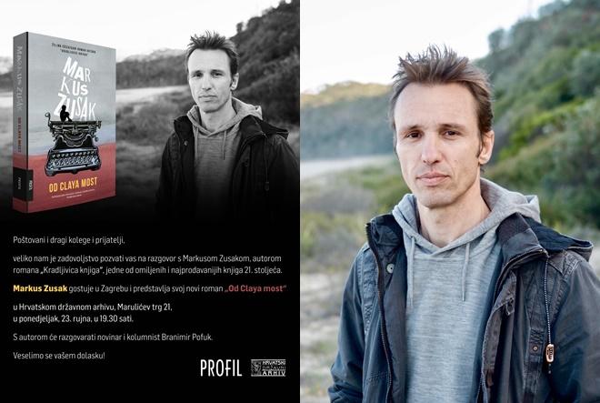 Markus Zusak, autor svjetskog bestselera Kradljivica knjiga, gostuje u Zagrebu