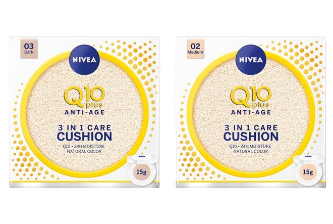 NIVEA Q10 plus 3u1 njegujući cushion za ujednačen i blistav izgled