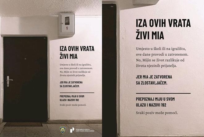 """""""Iza vrata"""": Kampanja protiv nasilja nad djecom u obitelji"""