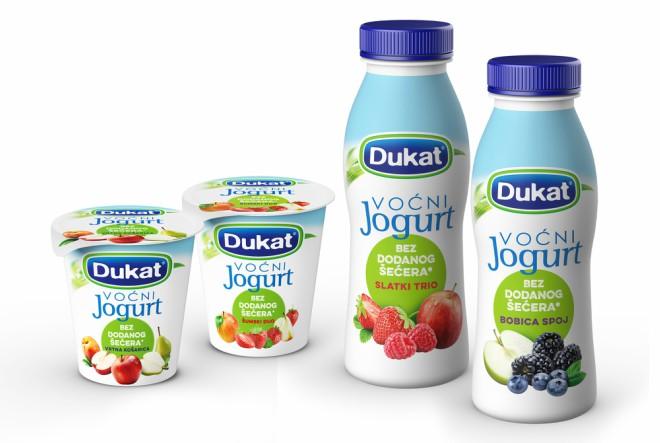Dukat je proširio liniju voćnih jogurta bez dodanog šećera novim okusima