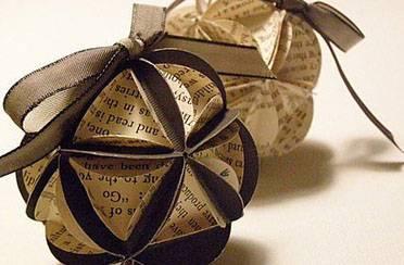 Origami Božićni ukrasi