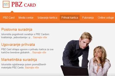 Nove PBZ card stranice