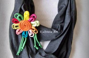Kuštrava Art – šarene ogrlice od tkanine