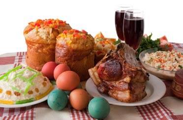 Bogat uskrsni stol