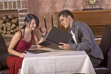 Večera na početku veze